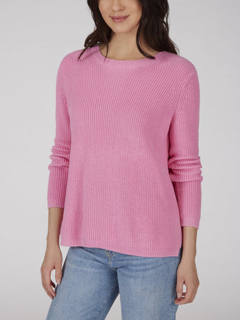 The Emma: Crewneck Shaker Stitch Sweater