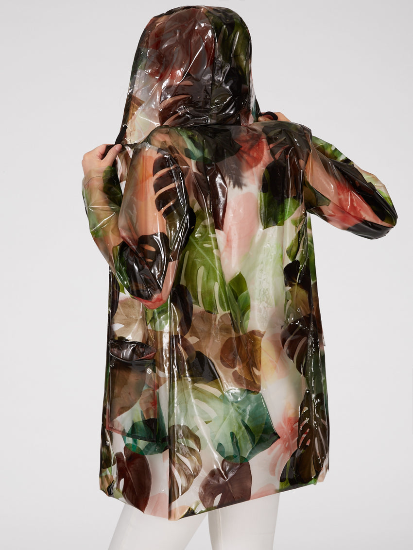 Clear Palm Print Raincoat