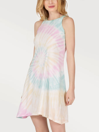 Cotton Tie Dye Racerback Dress
