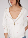Cotton French Terry Foil Heart Hoodie