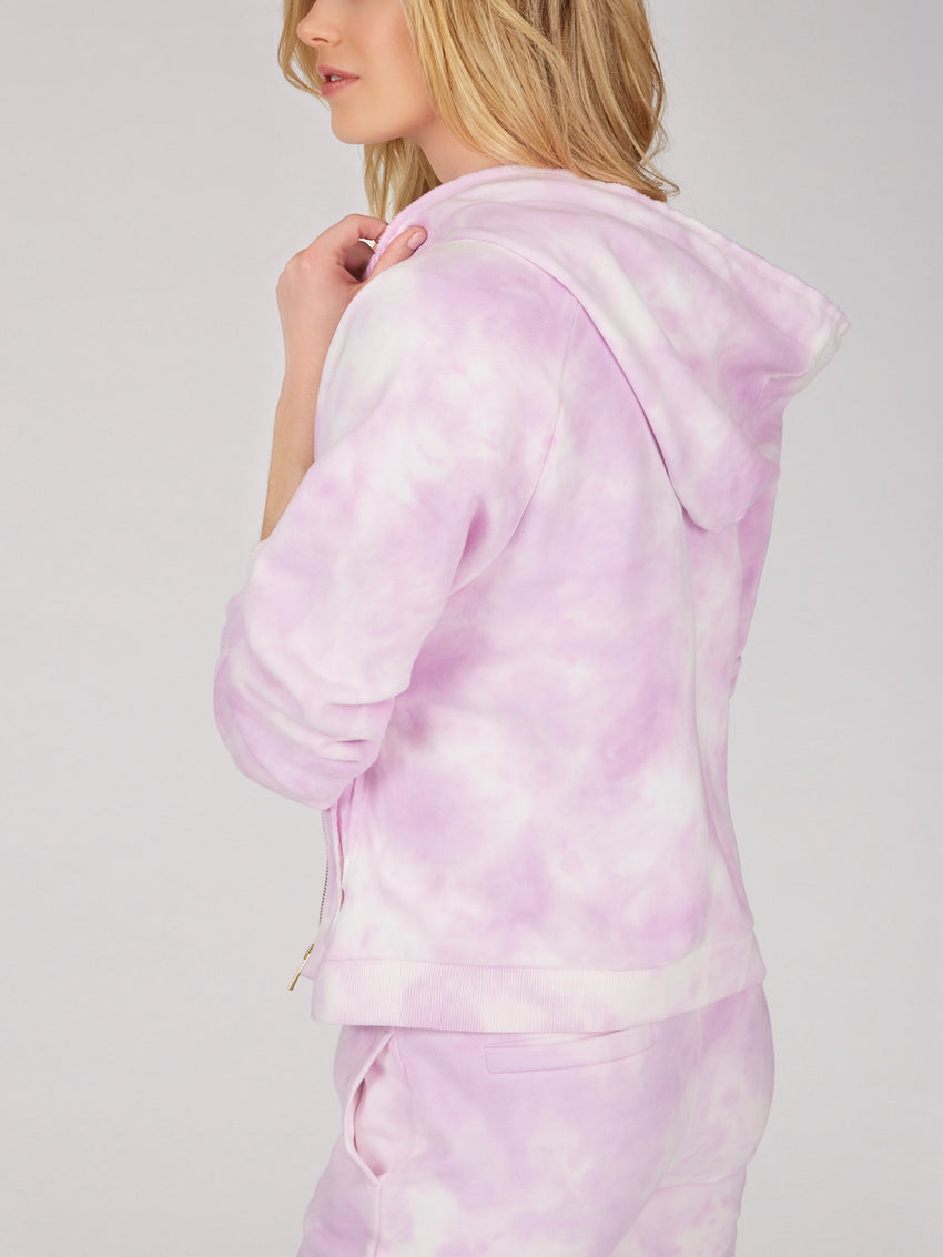 Cotton French Terry Tie Dye Hoodie