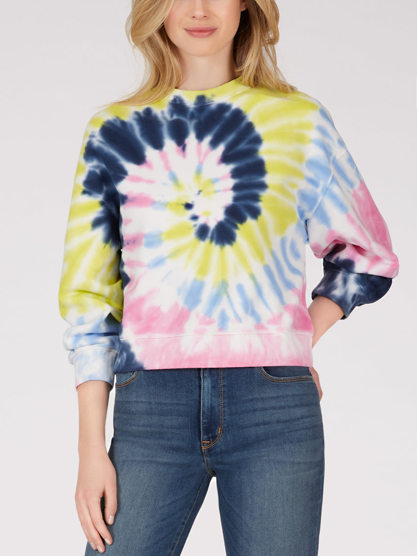 Cotton Tie Dye Crewneck Sweatshirt