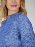 Cotton Transfer Stitch Cropped Sweater