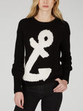 Cotton Shaker Anchor Intarsia Sweater