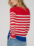 Textured Rib Striped Wave Top