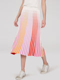 Accordion Pleat Stripe Maxi Skirt