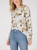 Cotton Shaker Animal Print Sweater
