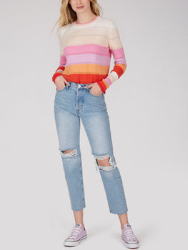 Cotton Gradient Stripe Sweater