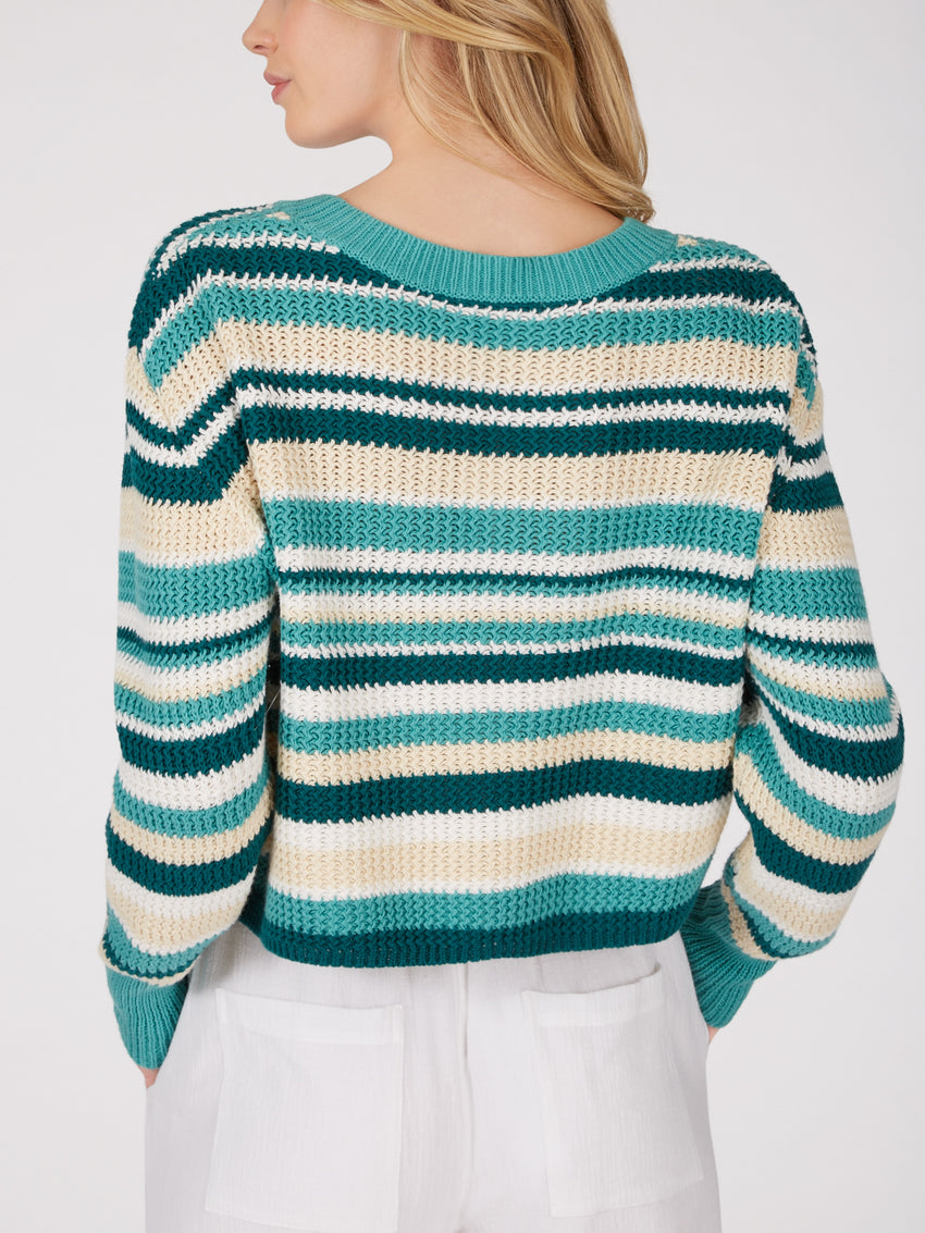 Cotton Textured Cropped Sweater