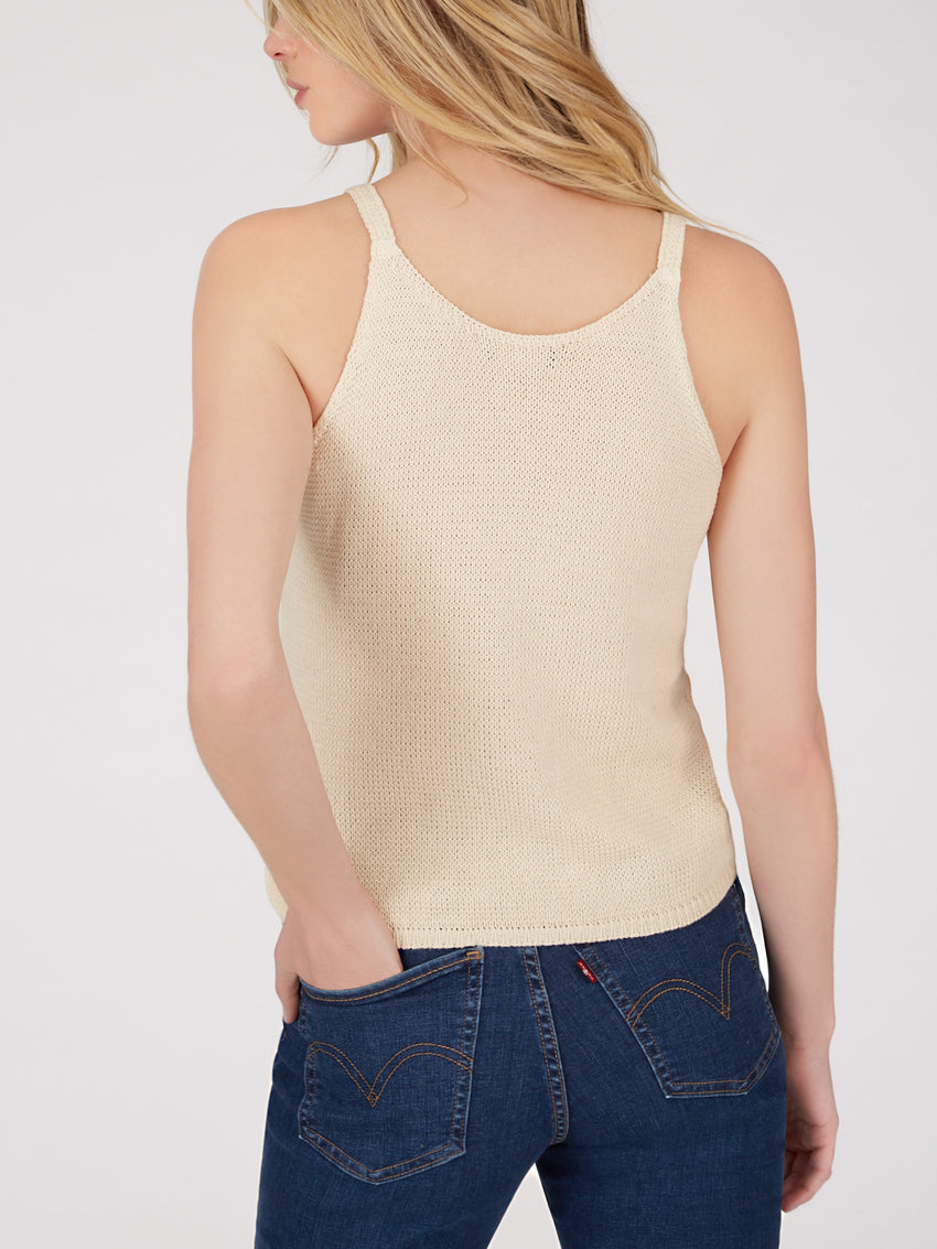 Cotton Ruffle Front Tank