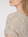Nubby Knit Shrunken Short Sleeve Sweater