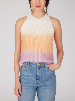 Spray Dye Cotton Shaker Sweater Tank