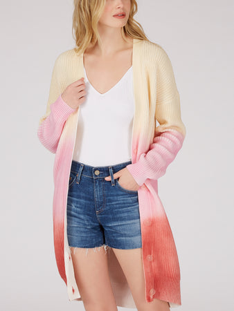 Spray Dye Cotton Shaker Duster Cardigan