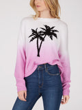 Cotton Shaker Dip Dye Palm Cropped Sweater
