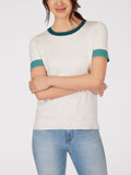Short Sleeve Knit Colorblock Ringer Top