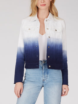 Cotton Dip Dye Denim Jacket