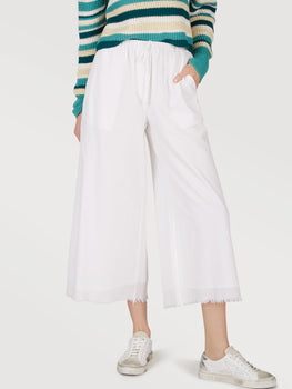 Cotton Relaxed Wide Leg Pants