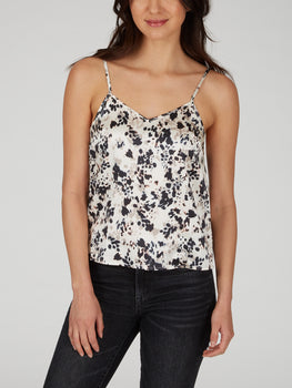 Animal Print Stretch Silk Cami