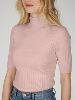 The Remi: Wide Rib Mock Neck