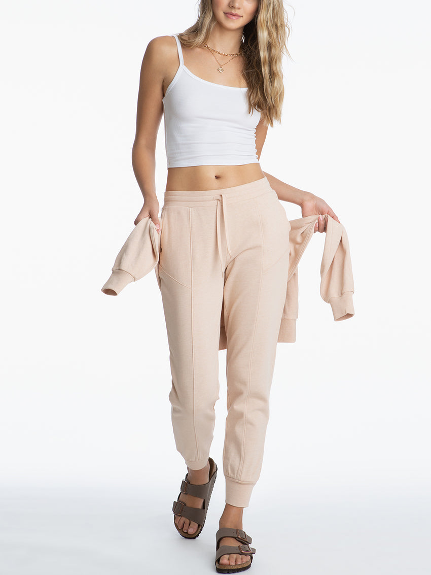 Elastic Drawstring Distressed Joggers