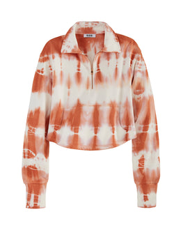 Tie Dye Quarter Zip Sweatshirt