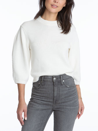 Cropped Volume Sleeve Top