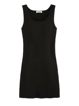 Solid Wide Rib Tank Dress