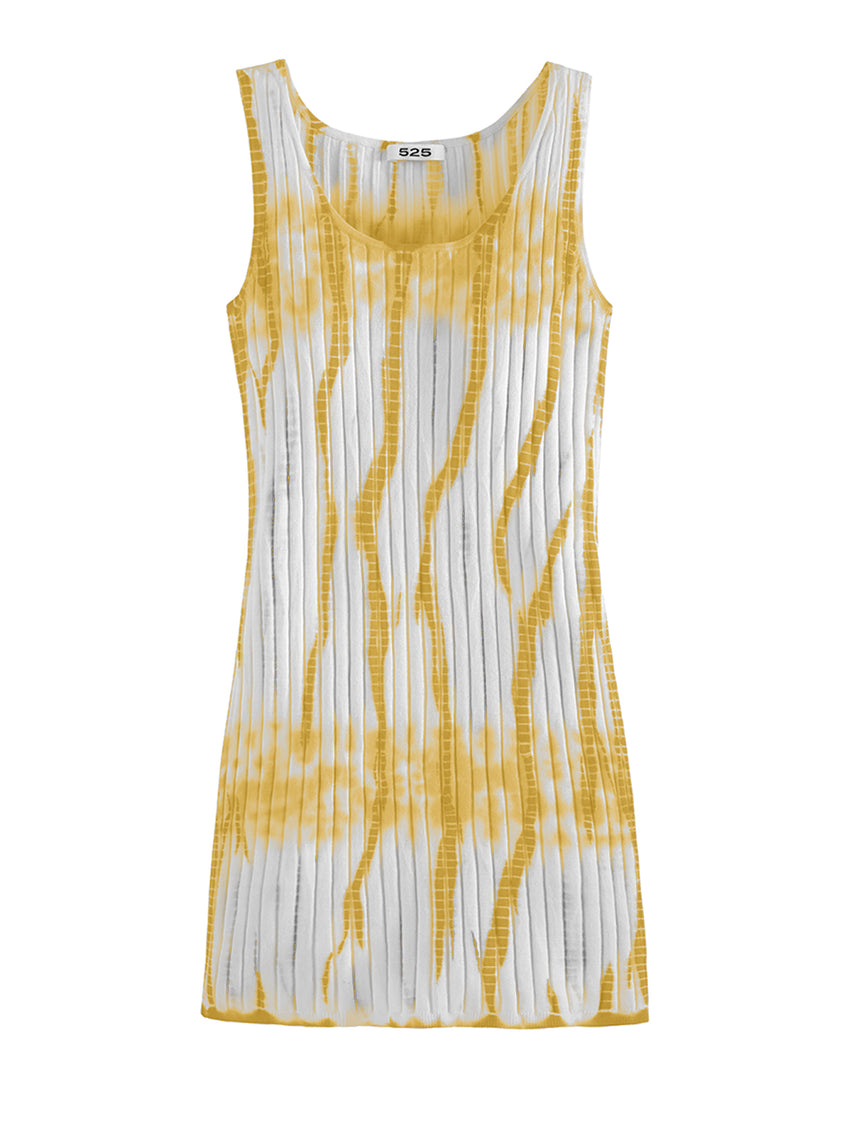 Tie Dye Wide Rib Tank Dress