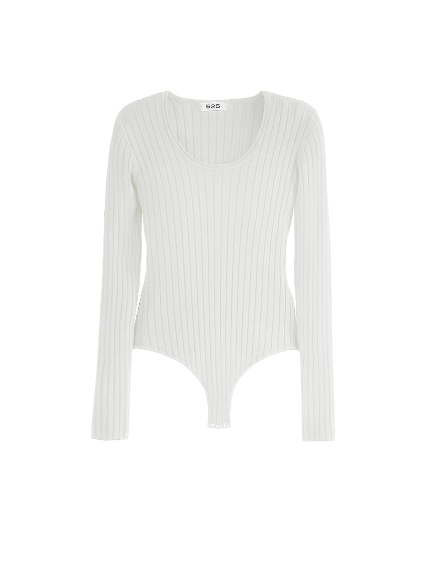 Wide Rib Scoop Neck Bodysuit