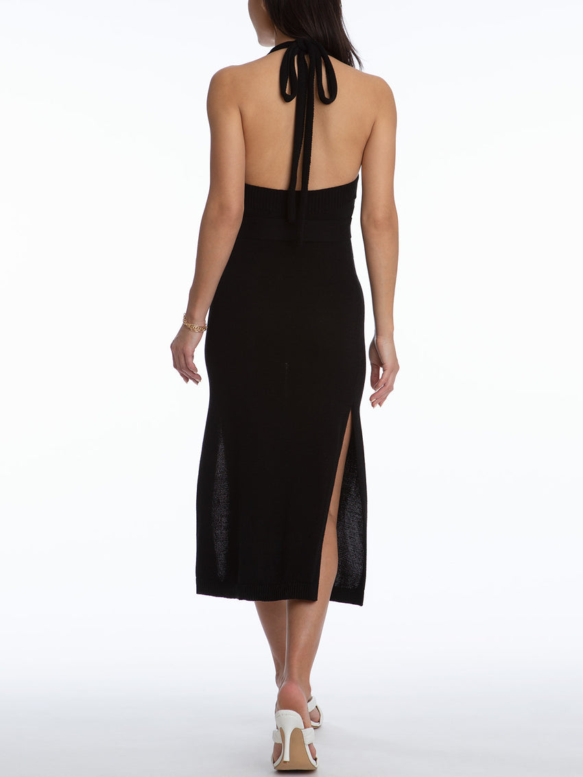 Keyhole Halter Dress