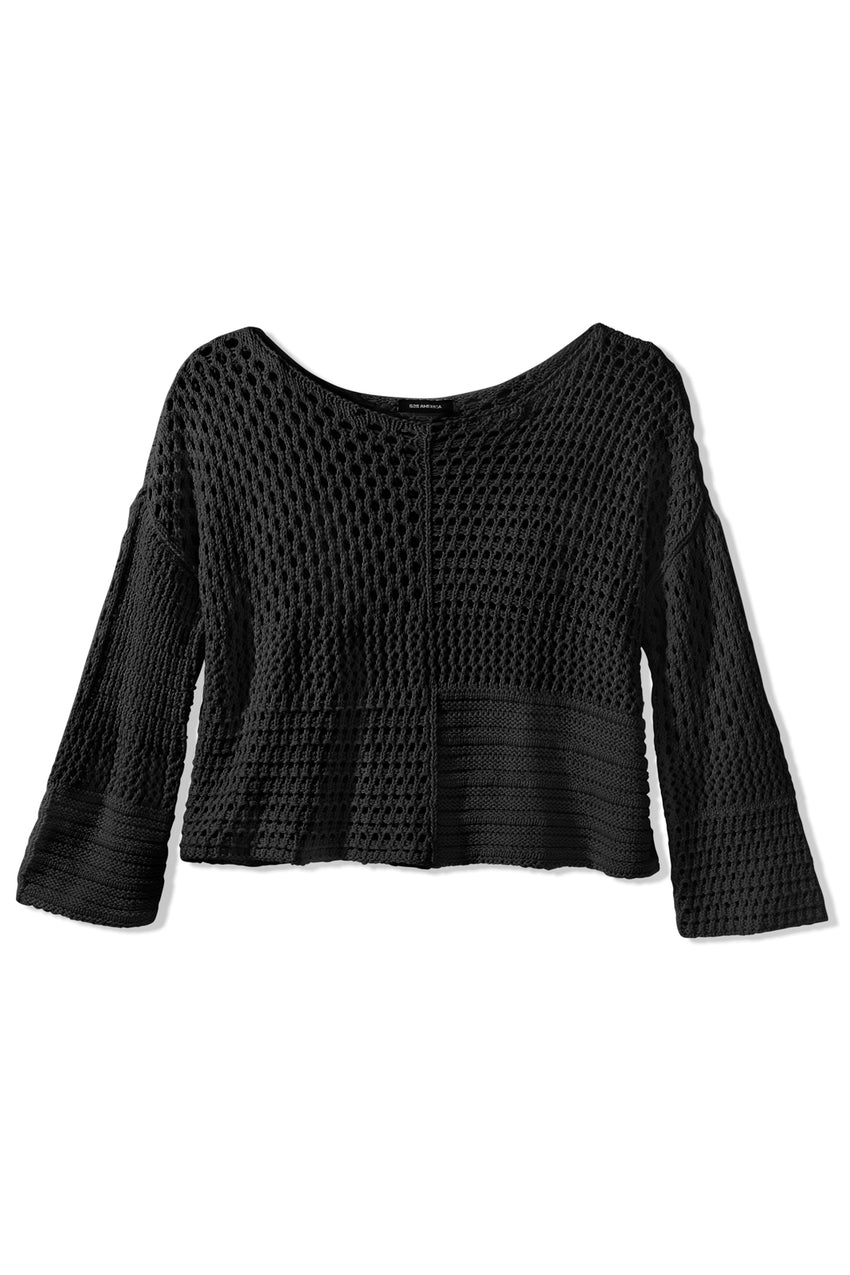 Becky Cotton Open Knit Sweater