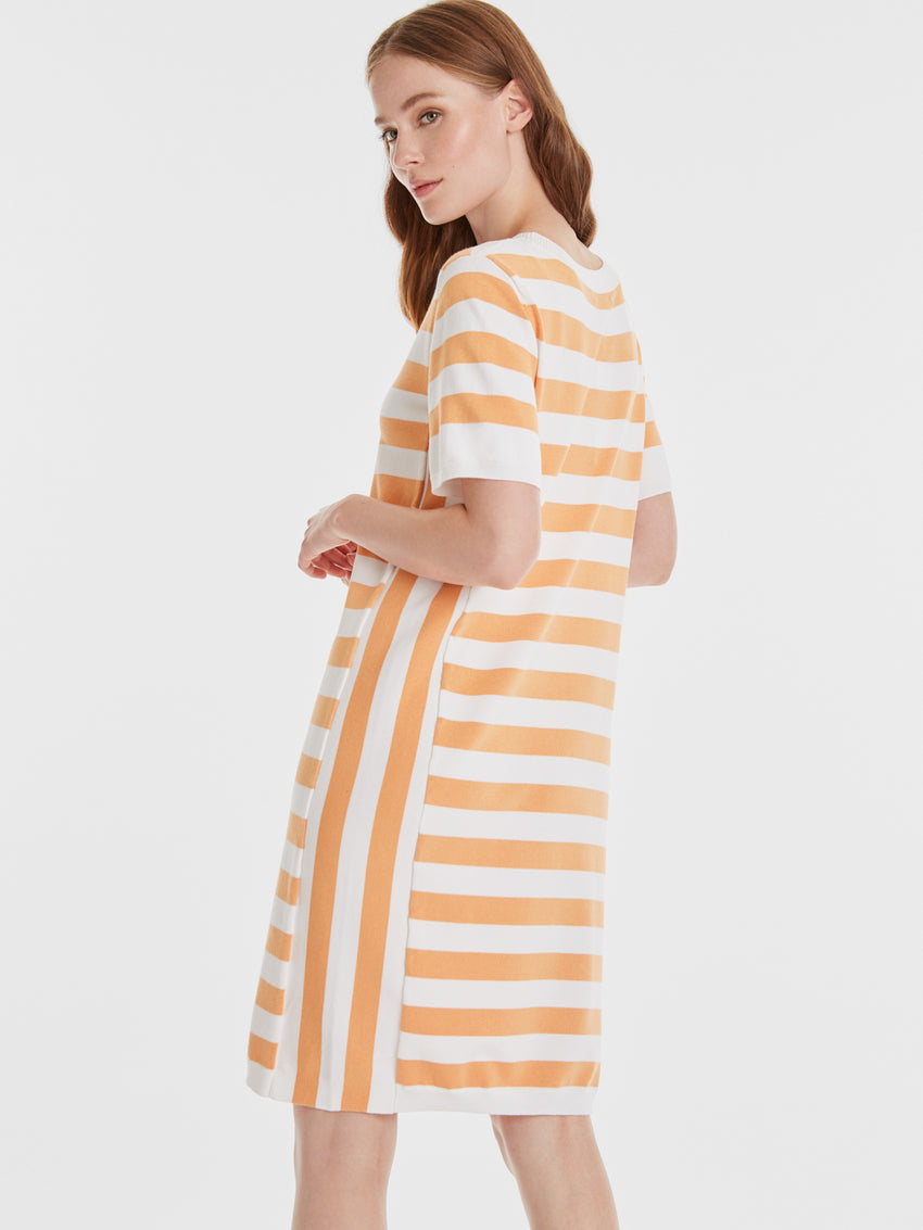 Rugby Stripe Short Sleeve Knit Dress