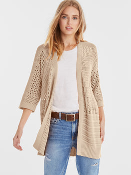 Jessie Cotton Open Knit Cardigan