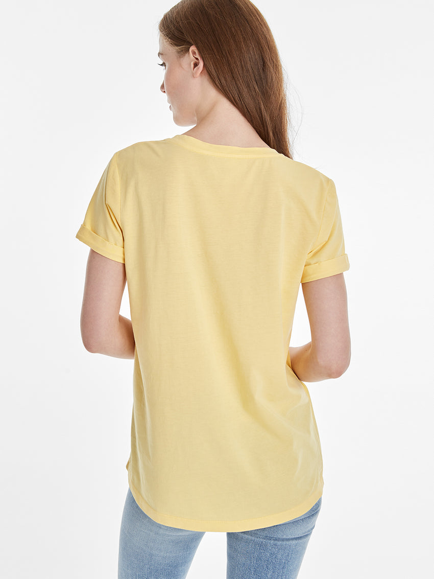 Logo V-Neck Pocket T-shirt