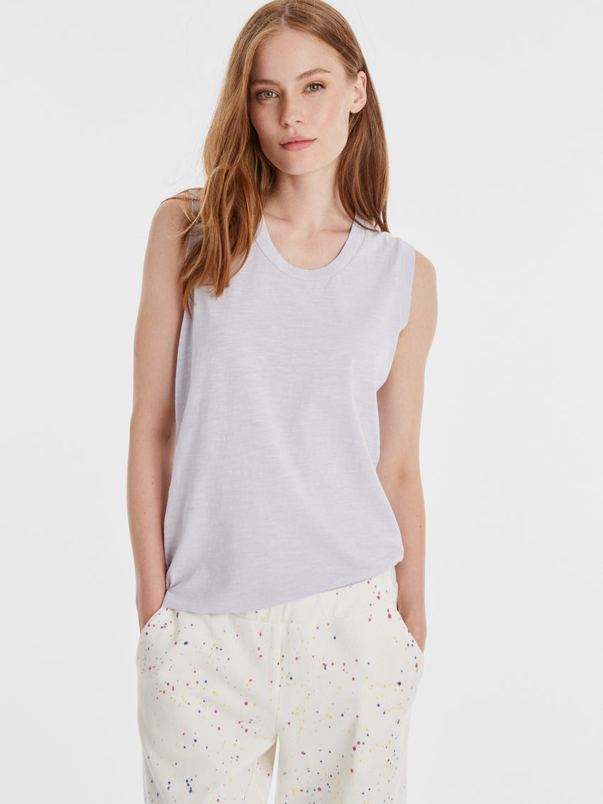Cotton Slub Knit Tank