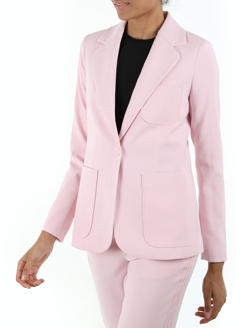 Softly Tailored Single Button Blazer