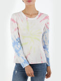 Cotton Cashmere Tie Dye Crewneck Sweater