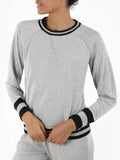 Cotton Blend Distressed-Wash Pullover