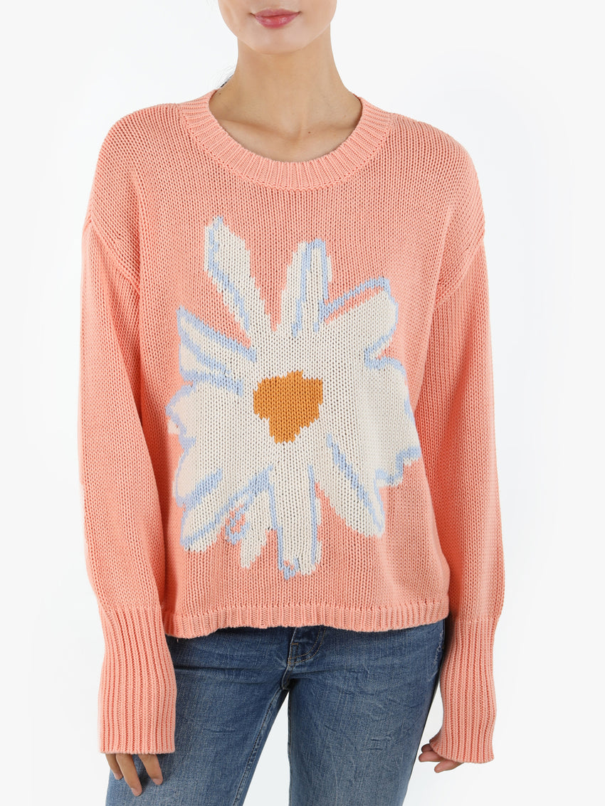 Daisy Cotton Shaker Sweater