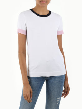Colorblock Short Sleeve Knit Tee