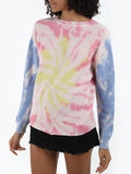 Tie Dye Cotton Shaker Sweater