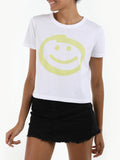 Smiley Face Cotton T-Shirt