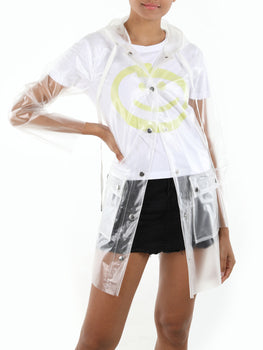 Transparent Hooded Rain Coat