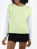 Cotton Shaker Varsity Split Back Sweater