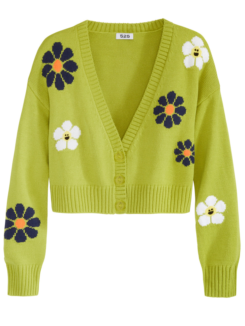 Everything's Coming Up Floral V-Neck Cardigan