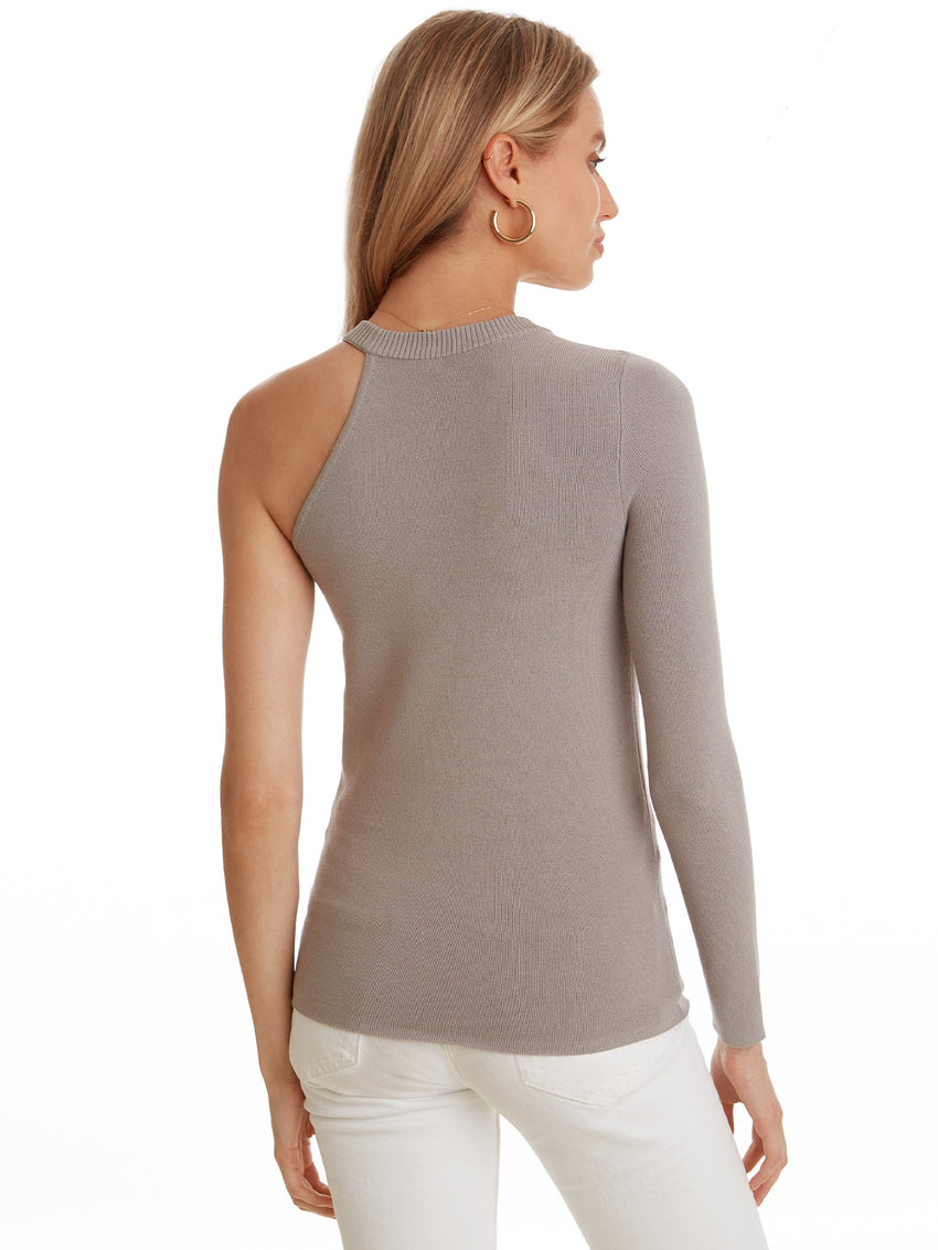 Asymmetrical One Sleeve Crewneck Top