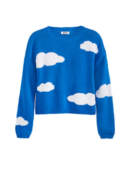 Send In The Clouds Crewneck Long Sleeve Sweater