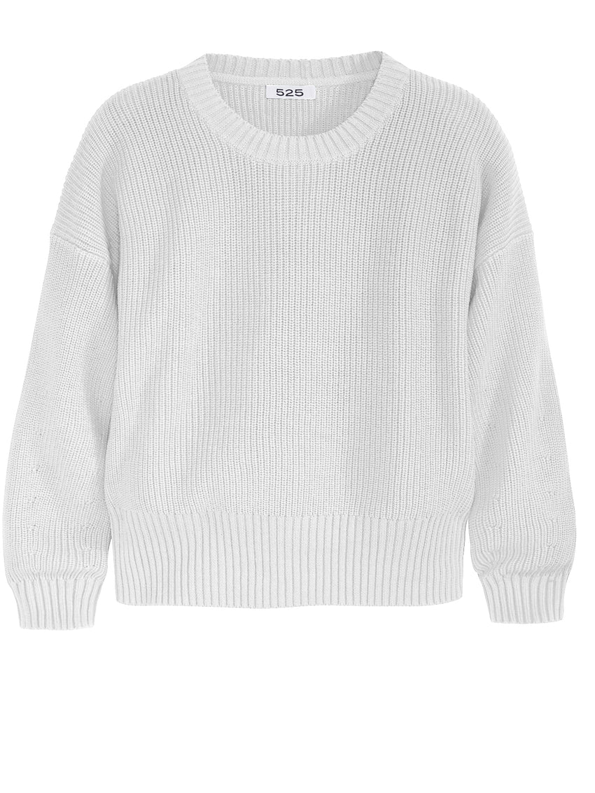 The Riley: Cotton Shaker Drop Sleeve Sweater