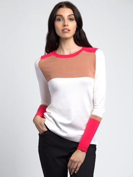 Crew Neck Color Block