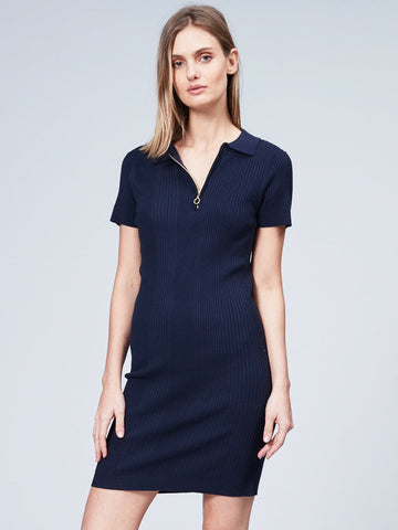 Varigated Rib Polo Dress